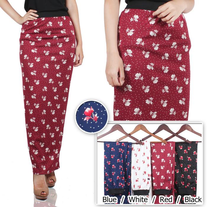 harga Dahlia maxi skirt / rok panjang span hijab wedges floral Tokopedia.com