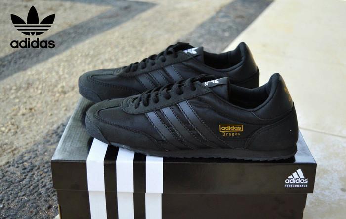 harga Sepatu casual pria sneakers adidas dragon full black Tokopedia.com