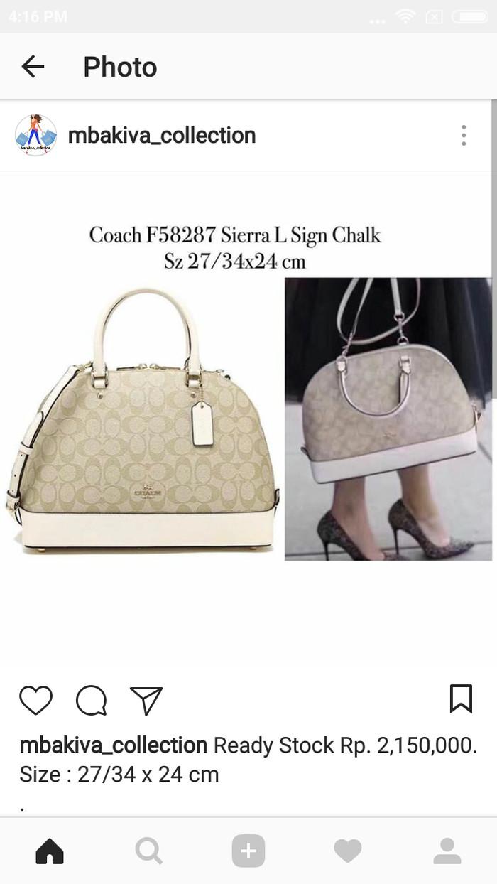 Coach f58287 sierra l sign chalk