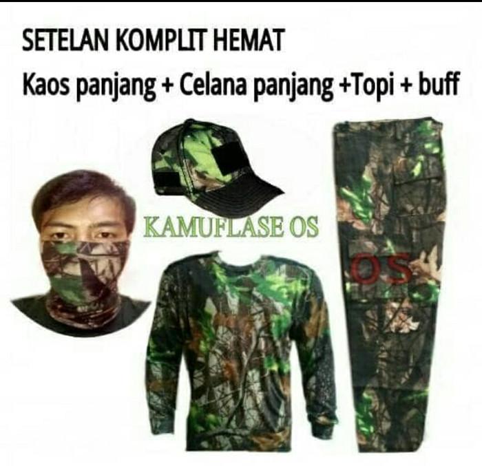 harga Setelan pakaian camo perbakin kaos+celana+topi+masker Tokopedia.com