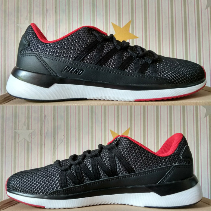 harga Sepatu casual piero webber black red p20223 original Tokopedia.com