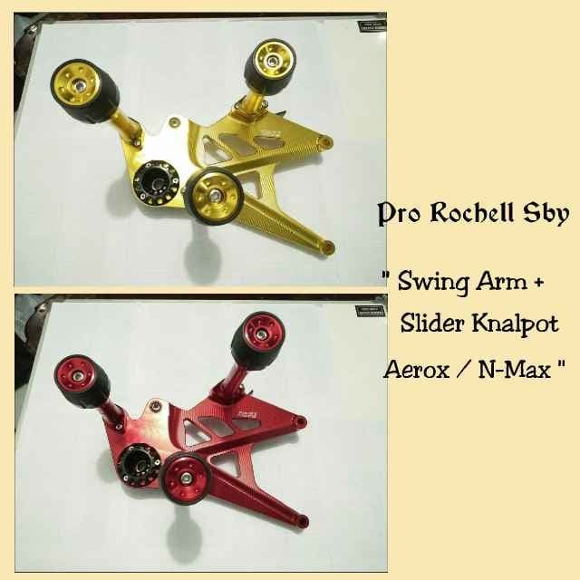 harga Swing arm motor aerox + slider pelindung knalpot full cnc fastbike Tokopedia.com