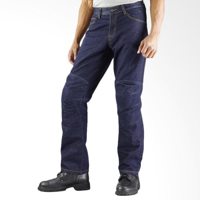 harga Komine kevlar jeans wj-735r original celana touring pria- deep indigo Tokopedia.com