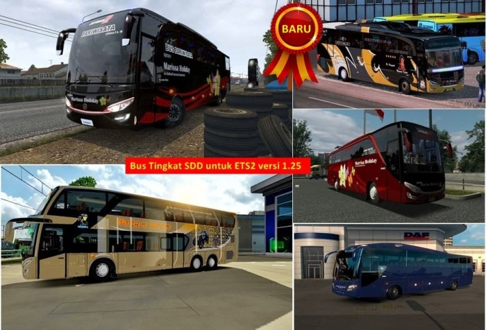 harga Bus dan truk simulator indonesia ets2 versi 1.25 lengkap Tokopedia.com