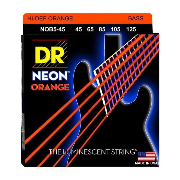 harga Senar bass dr strings, k3 neon hi-def orange bass, nob5-45 (45-125) Tokopedia.com