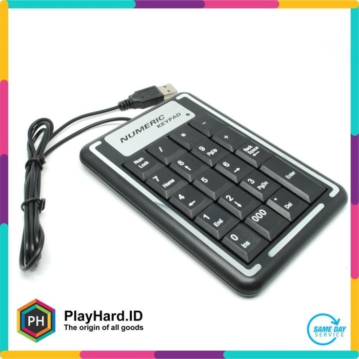 harga Portable usb numeric keypad - k-015 - black Tokopedia.com