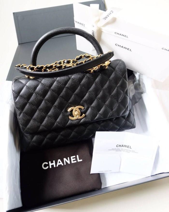 5d30dbaadb6 Jual Tas Chanel Flap Bag With Top Handle GHW Asli / Ori / Authentic ...