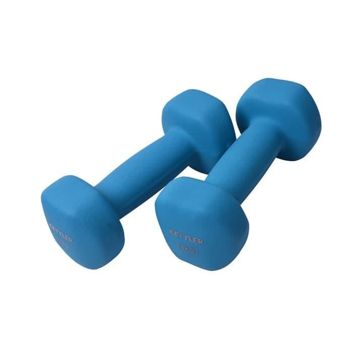 Foto Produk Kettler Neoprene Dumbell - 6kg/pair 701-020 Light Blue 002002018 dari MG Sports & Music