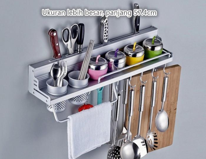Rak Dinding Gantung Dapur Tempat Bu Kitchen Set Besi Aluminium