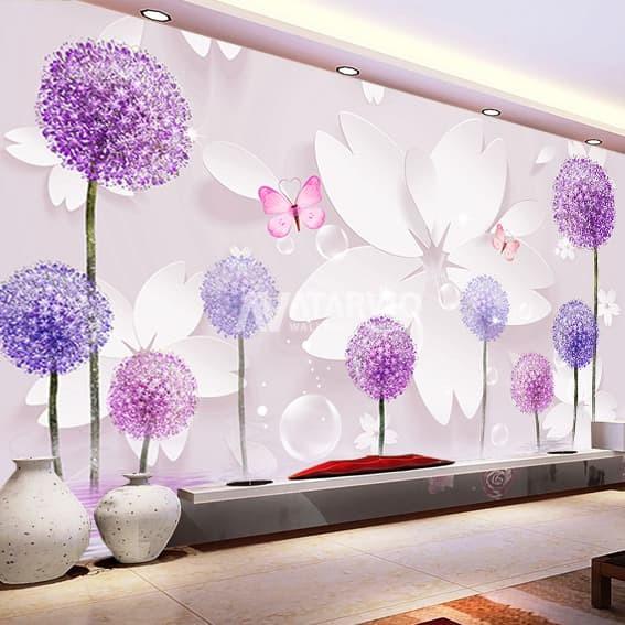 Jual Wallpaper dinding custom murah Wallpaper Jakarta Floral 1