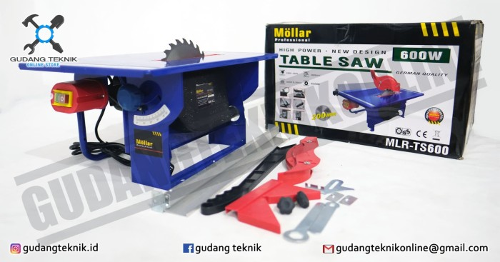 harga Table saw  / mesin gergaji meja 8 inch 200mm mollar mlr-ts600 Tokopedia.com