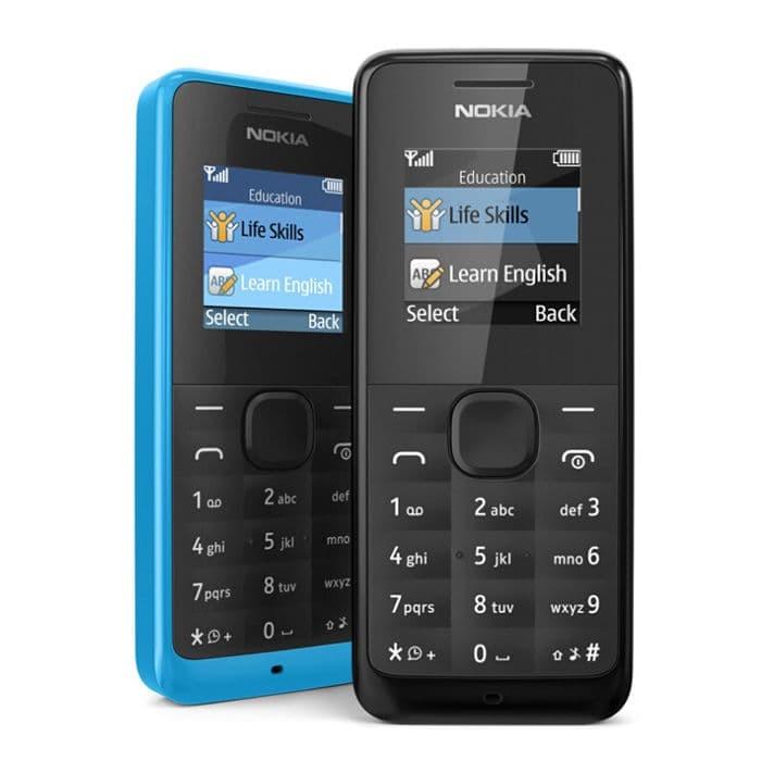 HP Nokia 105 single SIM MURAH - Hitam
