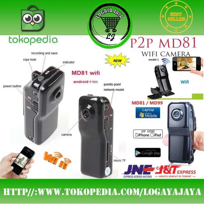 Jual Cctv IP Camera Mini DV Wifi Cmos HD P2P for Android ios Pengintai Ori  - DKI Jakarta - LogayaJaya | Tokopedia