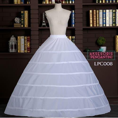 harga Petticoat wedding panjang (6ring) l rok dalaman gaun pengantin -lpc008 Tokopedia.com