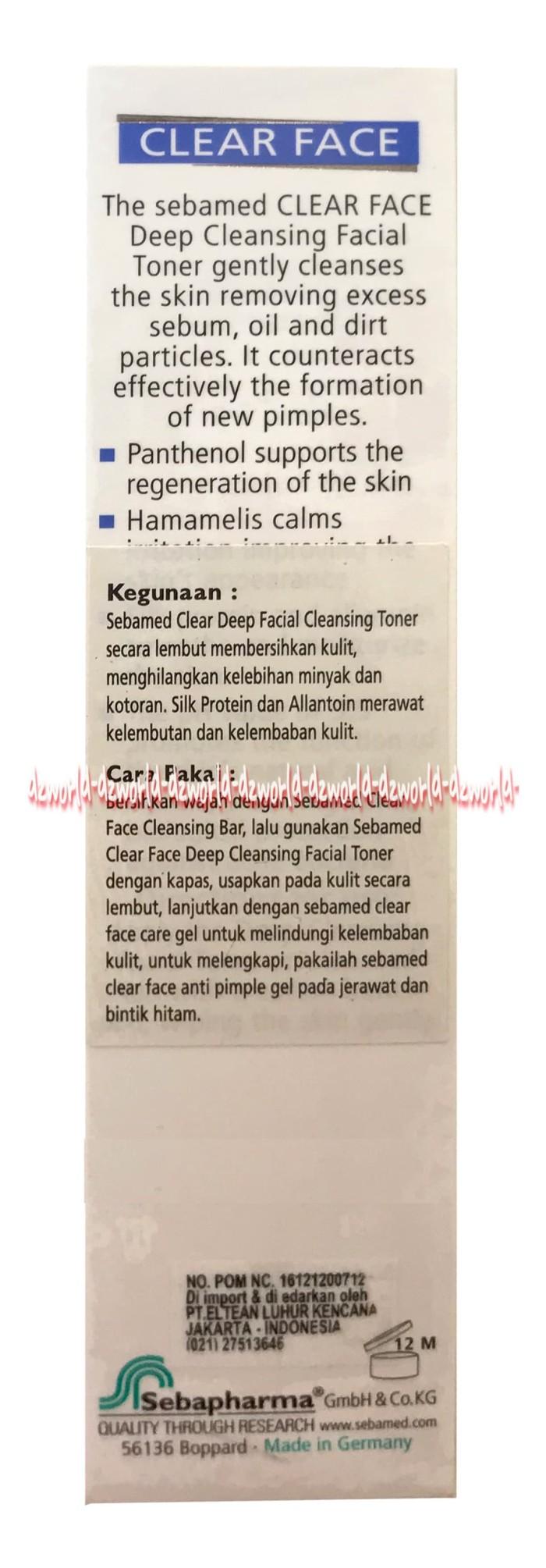 Sebamed Clear Face Deep Cleansing Facial Toner 150 Ml Pembersih Antibacterial Foam Wajah Anti Jerawat Komedo Kotor 150ml Seba Med