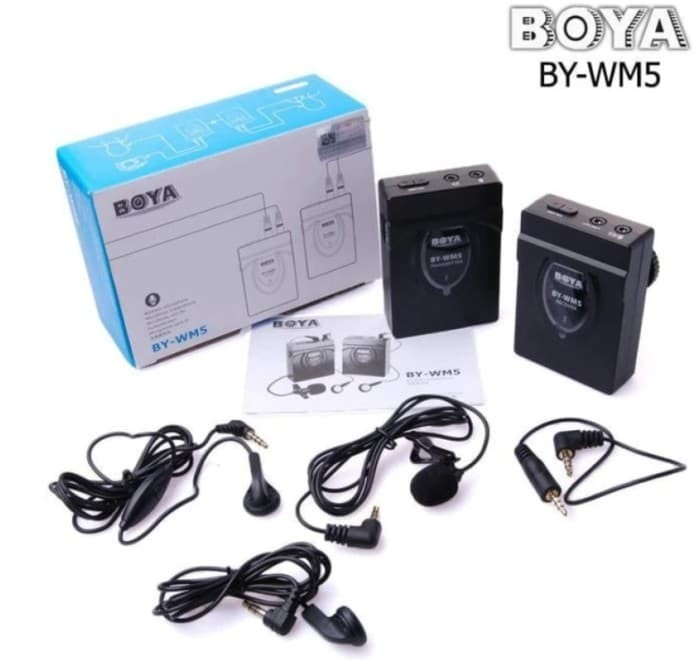 harga Boya wm5 / boya-wm5 wireless mic Tokopedia.com