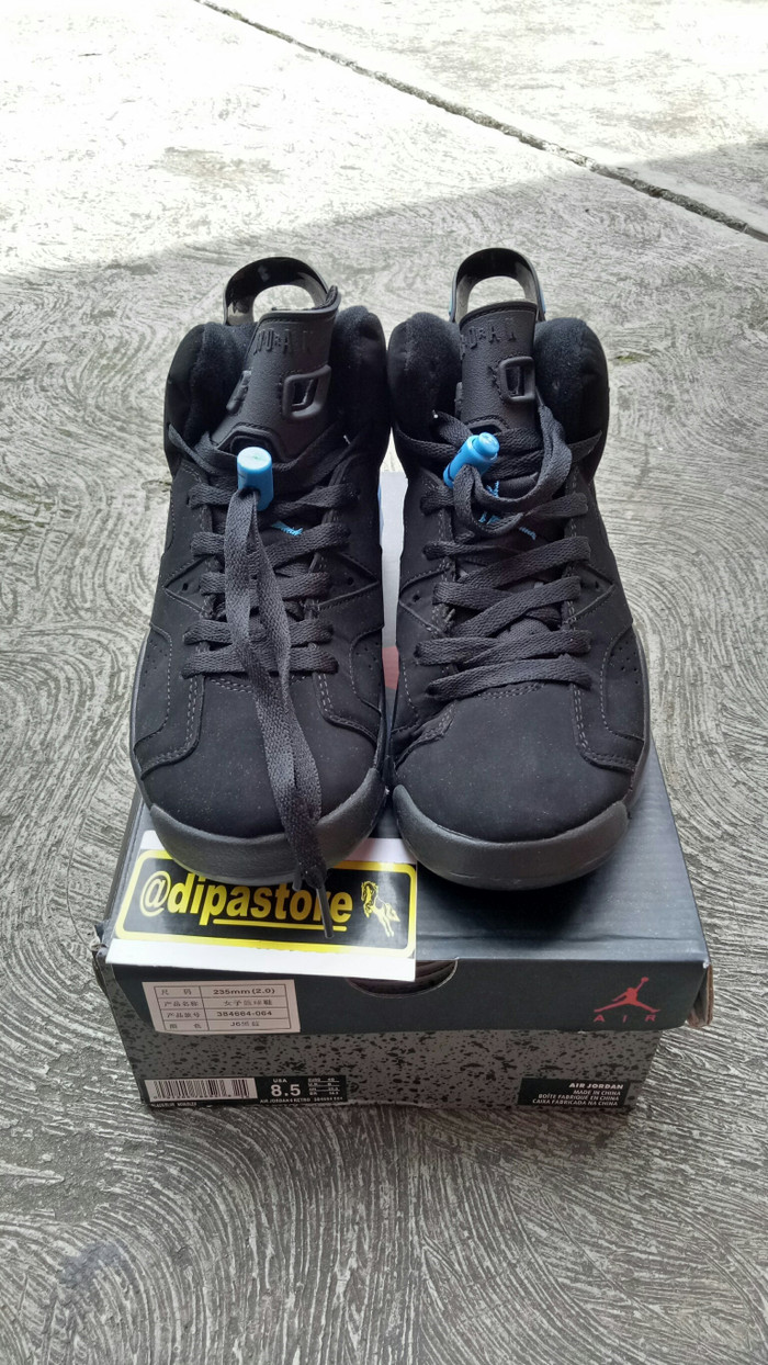 f3e61a99c54 Jual Nike Air Jordan 6 Retro UNC Black University Blue BNIB PERFECT ...