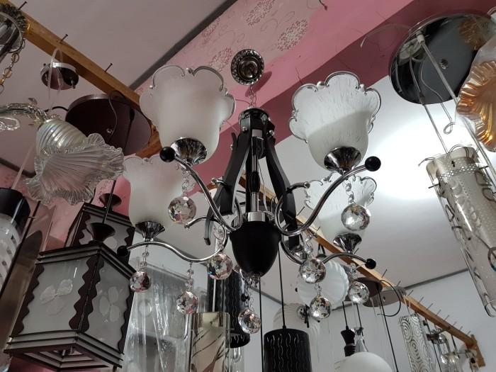 harga Lampu hias gantung kristal 5 lampu Tokopedia.com