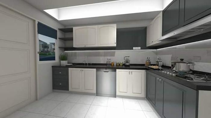Jual Kitchen Set Karya Besi Alumunium Dan Bangun Rumah Kota Depok Adi Interior Tokopedia