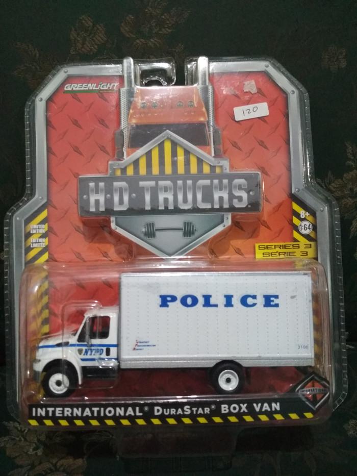 Greenlight HD Trucks International Durastar Box Van Police