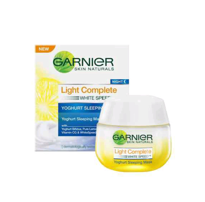 Garnier 50gr light complete night yoghurt sleeping mask