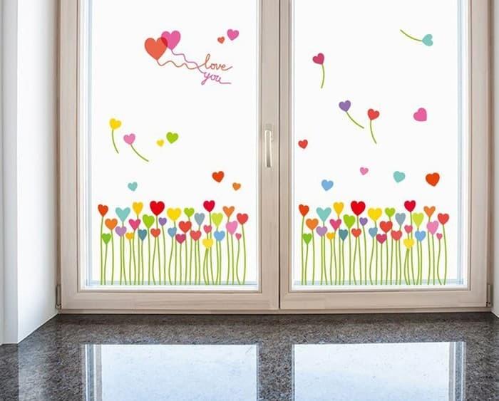 jual wall sticker uk.50x70 wall stiker dinding love grass sk7098