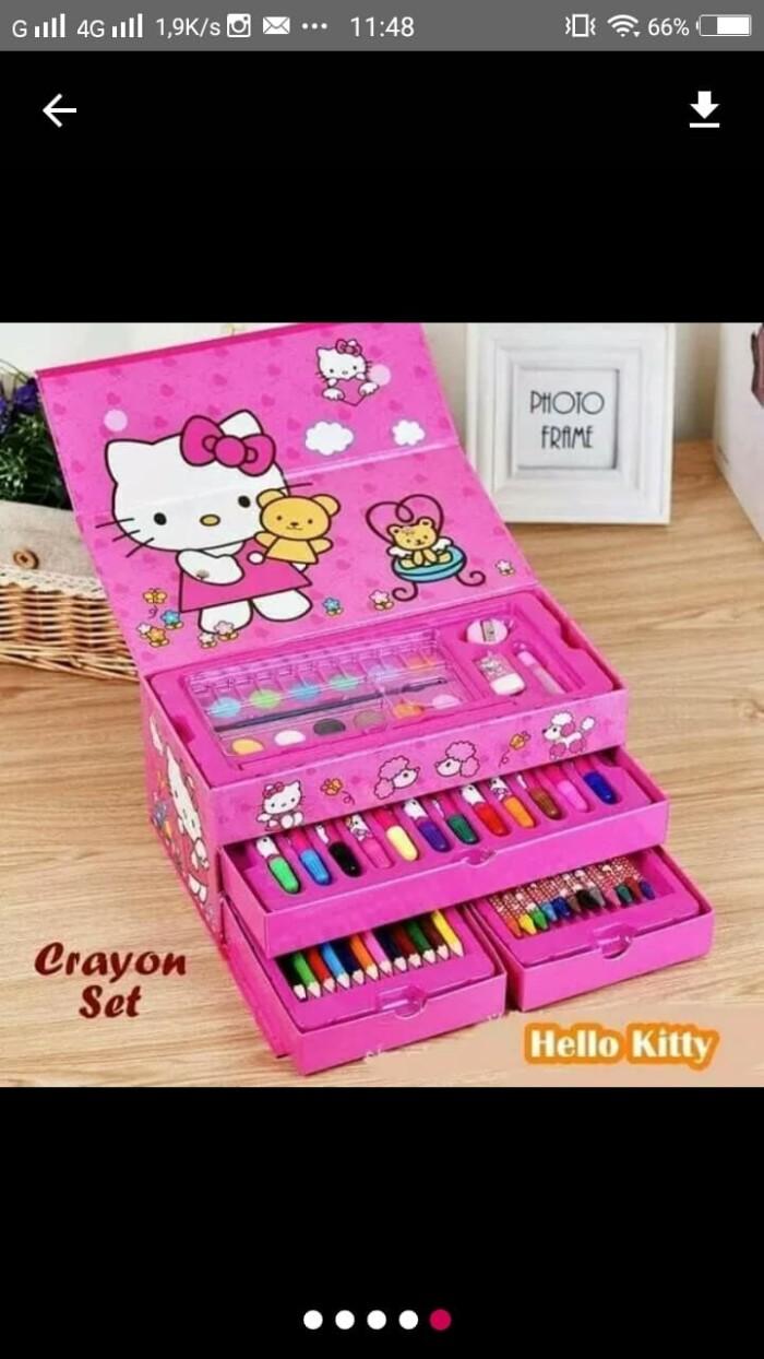 Jual Crayon Set Isi 54 Pcs Krayon Set Lengkap Art Set Alat Mewarnai Pensil Kab Sidoarjo Baranguniksbyall
