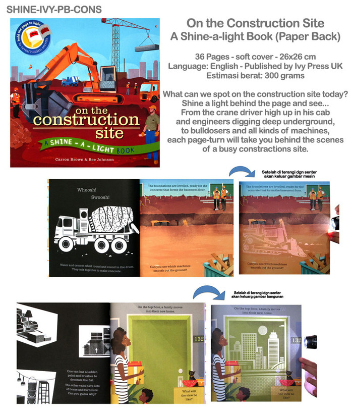 harga On the construction site a shine a light book (paper back)  Tokopedia.com