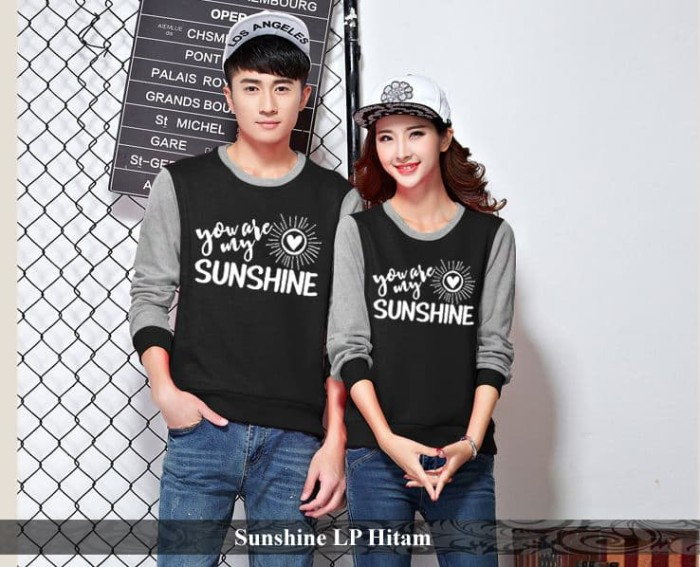 Foto Produk lengan panjang couple   kado pacar   valentine   baju couple sunshine dari koleksi baju couple