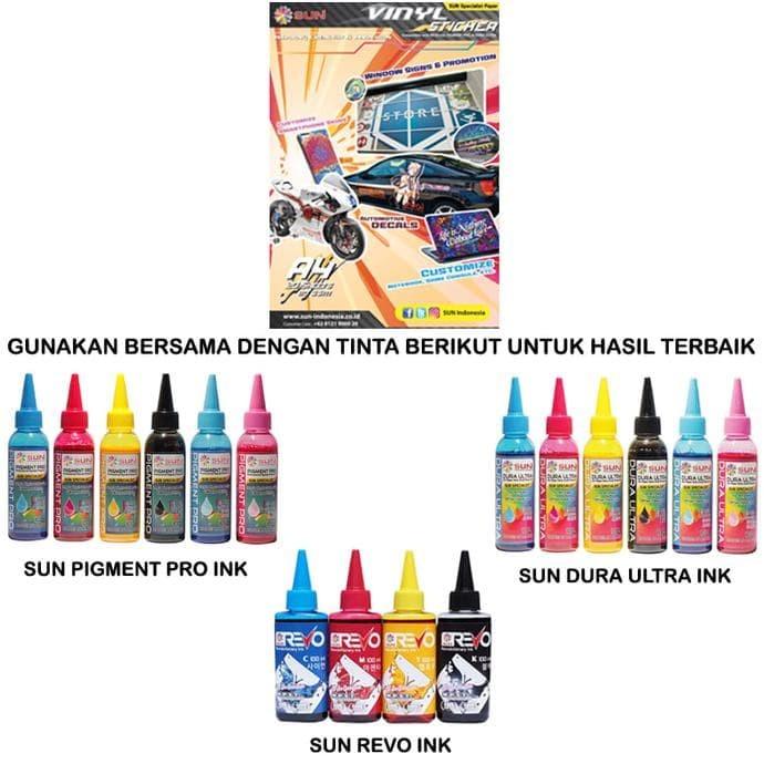 Promo Sun Kertas Sticker Vinyl Inkjet A4 - Putih Limited