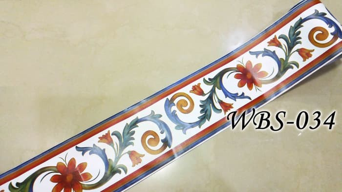 jual wall border sticker kaca dan dinding wbs034 white n color