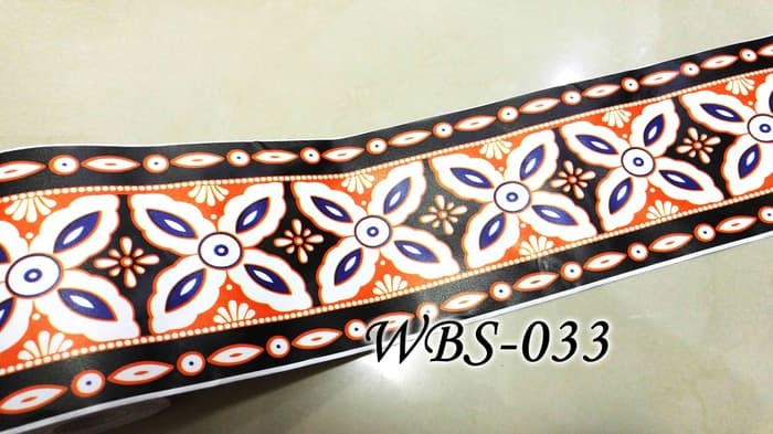 jual wall border sticker kaca & dinding wbs033 black batik list