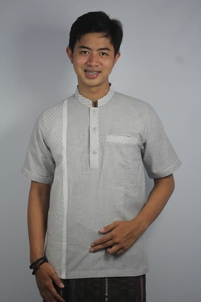 Promo baju koko pria minimalis busana muslim pria kode adypd03br putih
