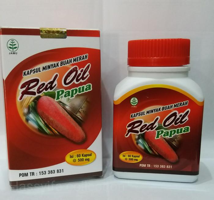 RED OIL PAPUA Kapsul Minyak Buah Merah Papua isi 60 Kapsul