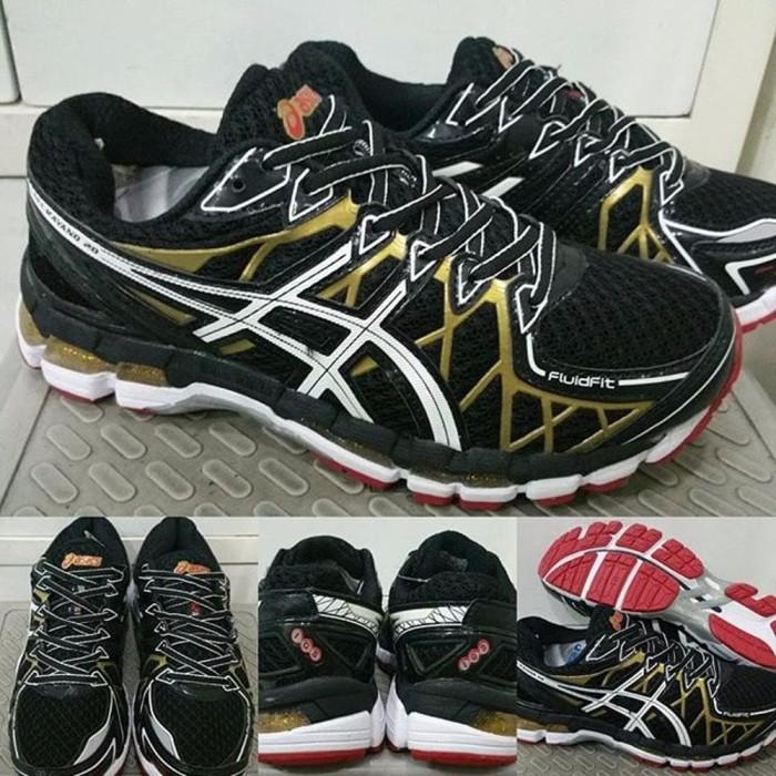 TOP Sepatu Lari Running Jogging Fitness Asics Gel Kayano 20 Black Gol b1cae5d84f