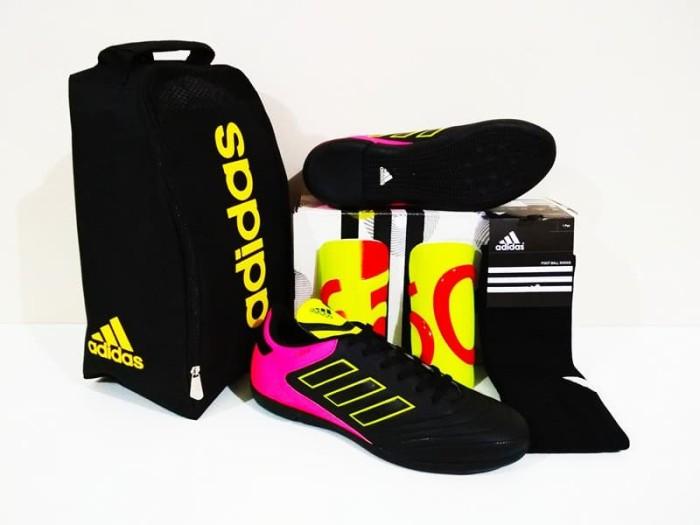 harga Paket all in one sepatu futsal murah berkualitas (copa 18 black pink) Tokopedia.com