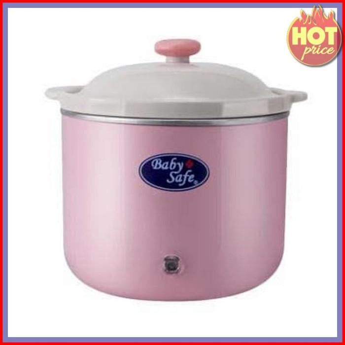 [PROMO] [GOJEK ONLY] Baby Safe - LB009 Slow Cooker 0.8L PINK (light in
