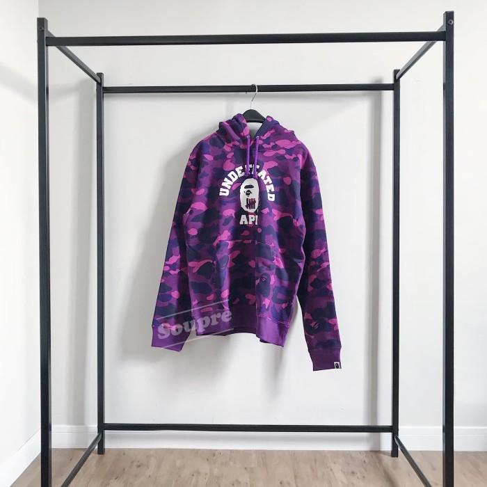 37e9f2b76b08 Jual BAPE X Undefeated Color Camo College Pullover - Purple Hoodie ...