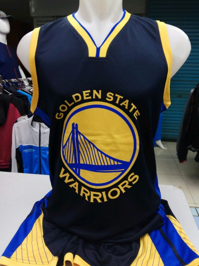 promo code acd76 7bfe8 Jual Setelan Jersey Baju Basket NBA Impor - Golden State Warriors GSW Hitam  - Hitam, XL - DKI Jakarta - Sion Sport | Tokopedia
