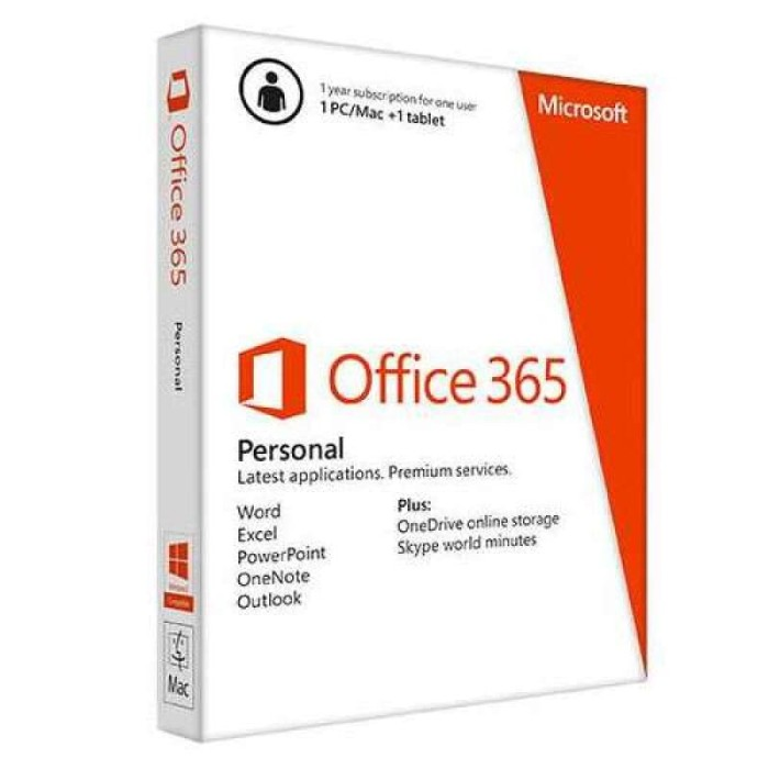 Foto Produk OFFICE 365 PERSONAL 32BIT/X64 1YR - Word, Excel, One Note, Outlook, Po dari Deca Computer
