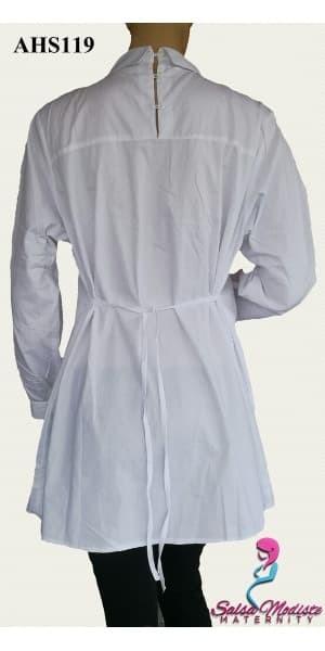 Baju Hamil dan Menyusui Putih Smoke AHS119 1