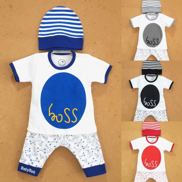 Jual Baju pakaian kaos setelan kemeja bayi anak cowo laki murah lucu