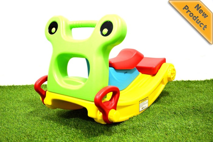 harga Perosotan froggy 2 in 1 slide & rocker (kc-1001) Tokopedia.com
