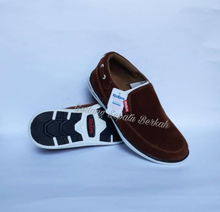harga Sepatu kickers casual pria santai slip on hangouts Tokopedia.com