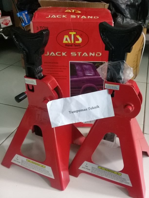 harga (khusus go-send /grab) jack stand 3 ton set 2bh dongkrak tahanan mobil Tokopedia.com