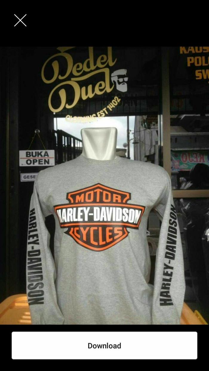 Jual Kaos Longsleeve BIG SIZE HARLEY DAVIDSON Jakarta Timur Thukul Shop