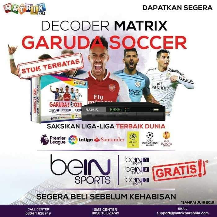 Jual Matrix Garuda Soccer Hd Free Chanel Bein Sport 123 Kab Rembang Sat Stream Tokopedia