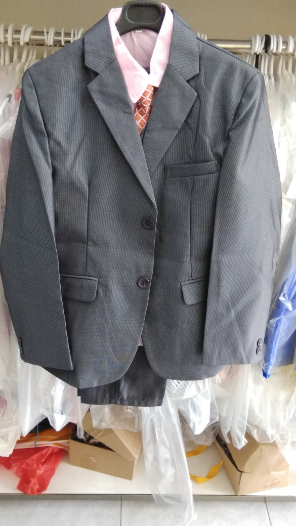 harga Baju anak laki import branded setelan 5in1 blazzer boy abu tua fashion Tokopedia.com