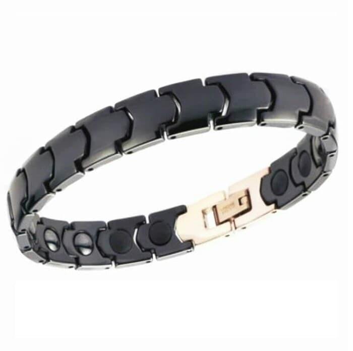 Best Tungsten Ceramic Magnetic Bracelet Gelang Pria Wanita Kesehatan -