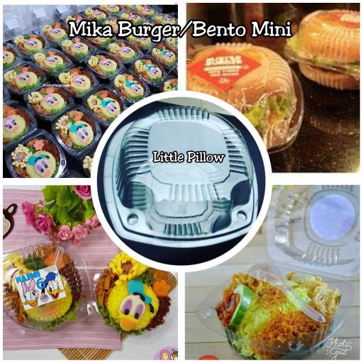 Foto Produk Mika Burger/Mika Bento Mini/Mika Snack/Mika Nasi/Tray Burger Mini dari Little Pillower